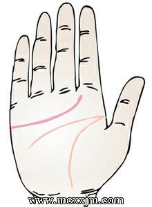 手掌纹路图解:情感线