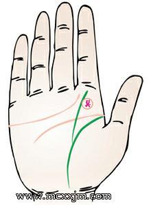 手掌纹路图解:生命线