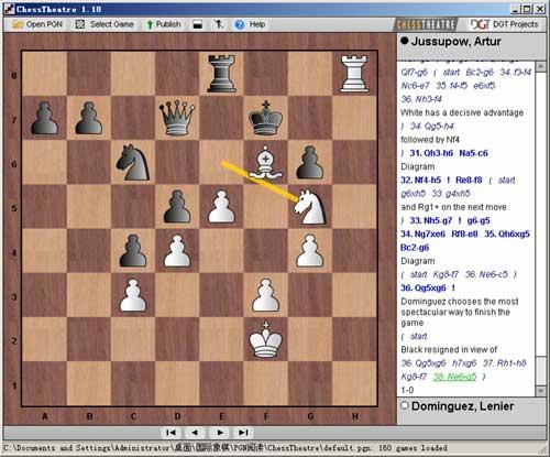 chesstheatre(最好的国际象棋pgn棋谱阅读管理软件)