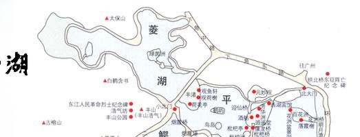西湖手绘地图电子版
