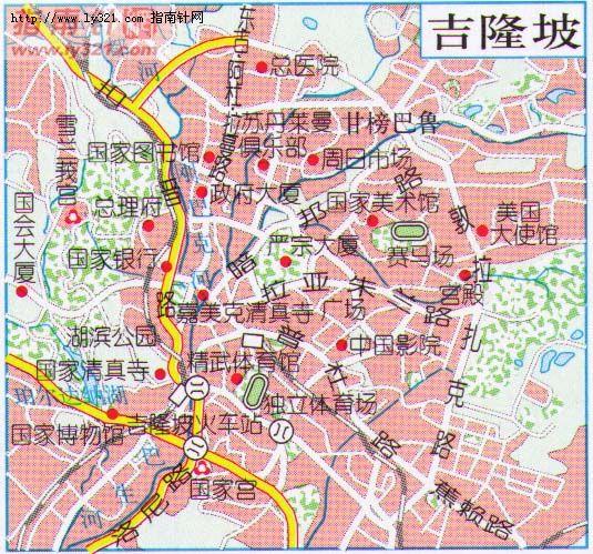 吉隆坡地图_马来西亚地图查询