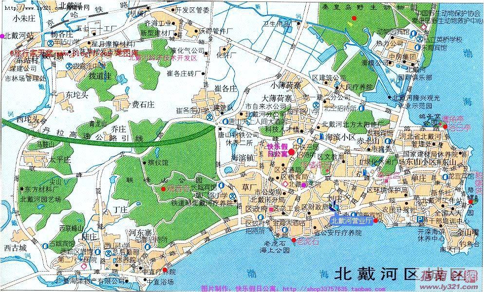 北戴河交通地图_秦皇岛地图查询