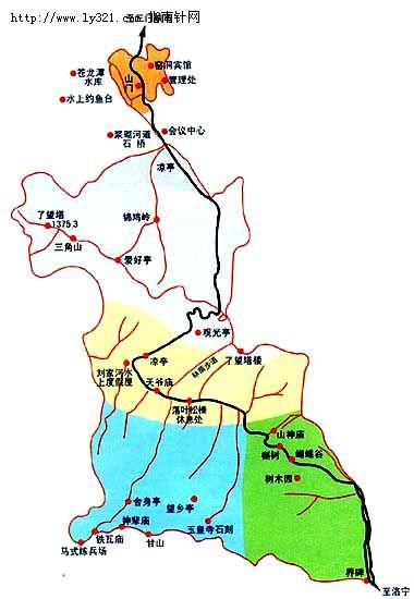 三门峡甘山国家森林公园交通地图