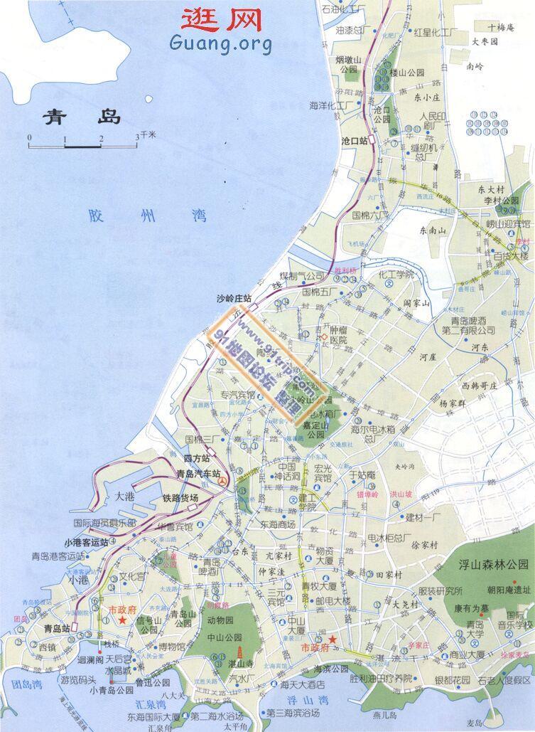 山东青岛地图