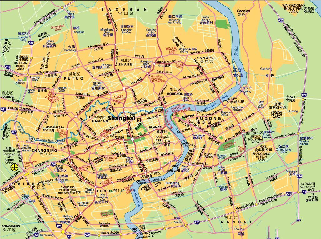 上海市区地图
