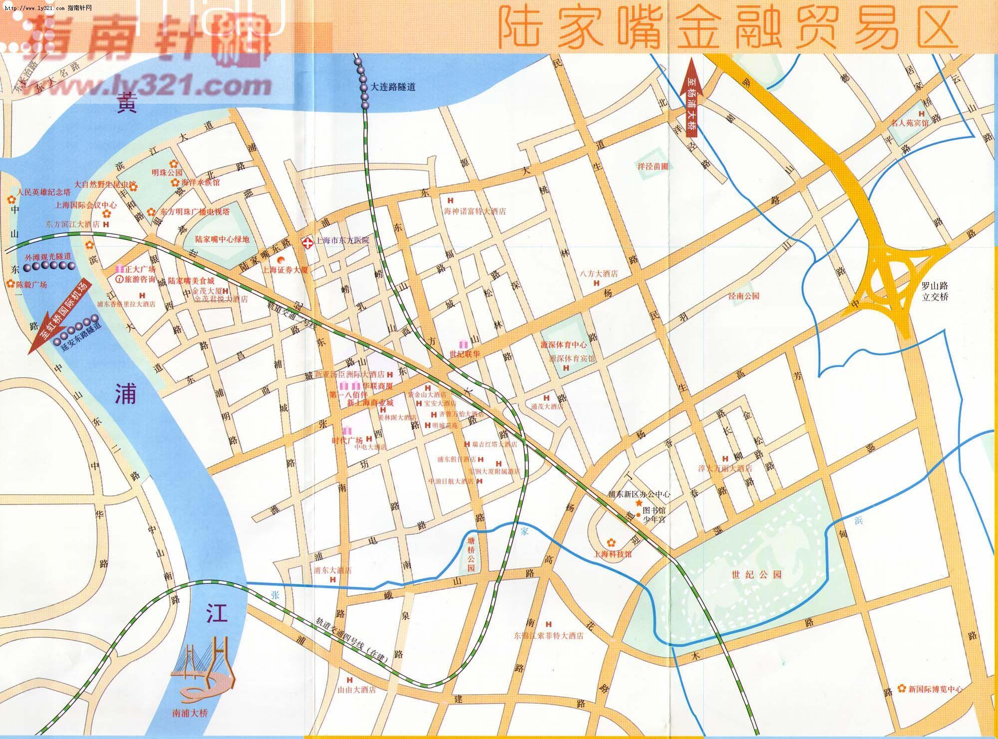 陆家嘴金融贸易区地图_上海地图查询