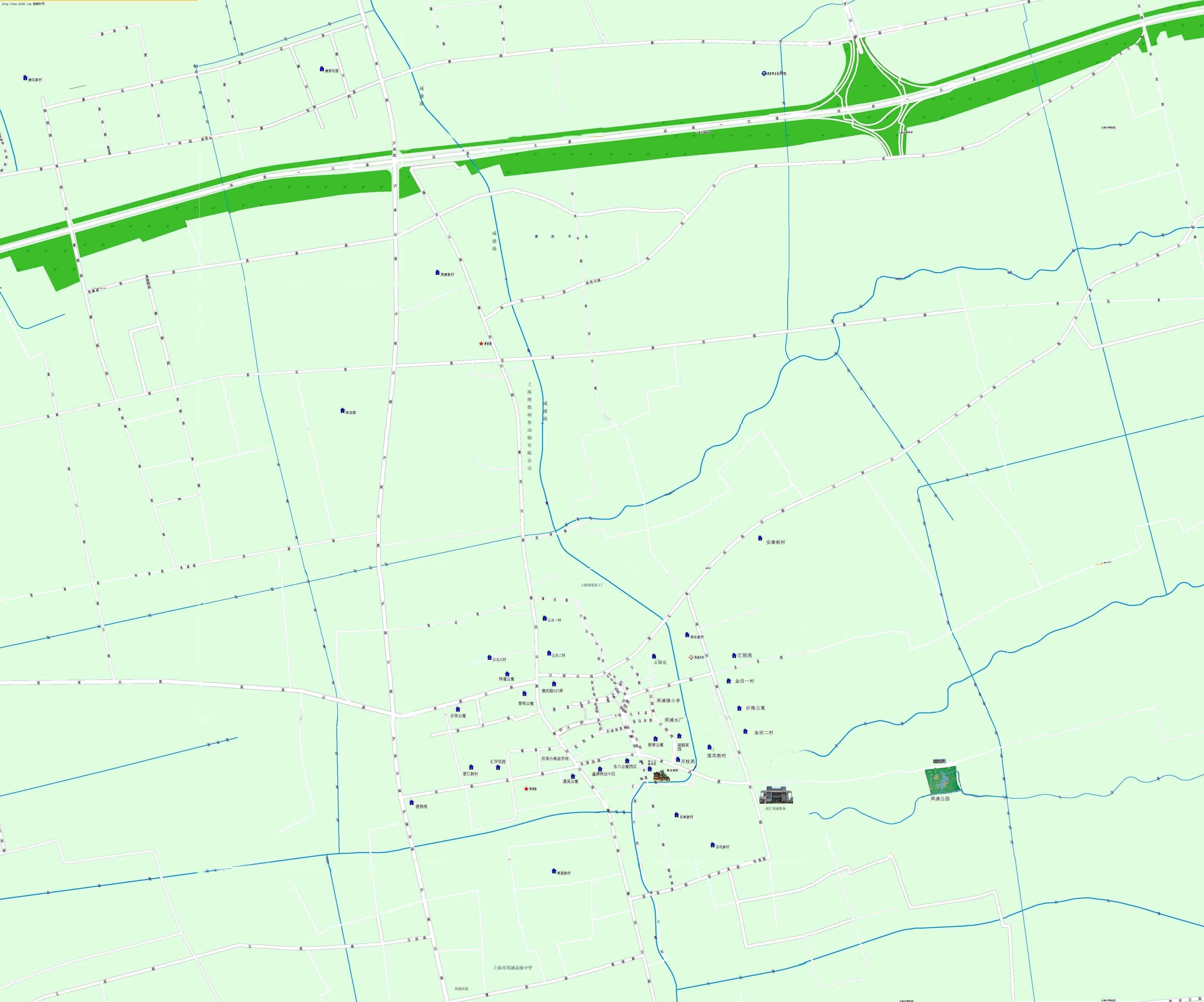 上海浦东周浦镇地图