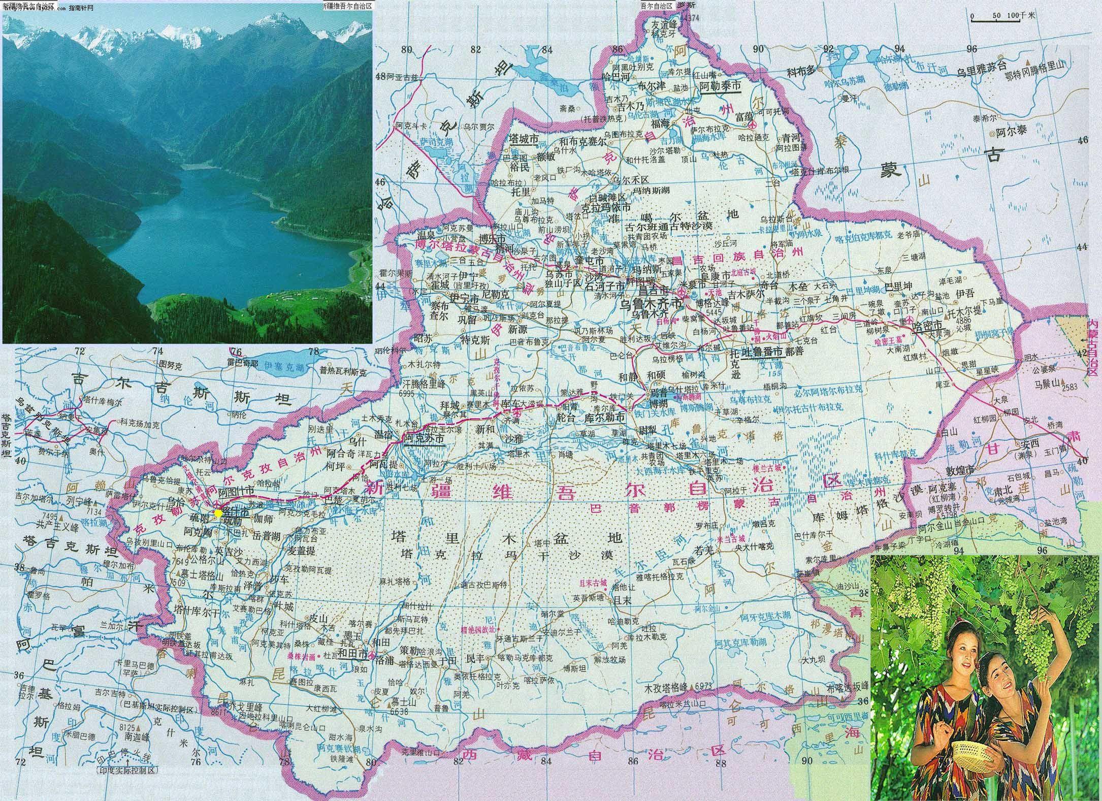 新疆喀什塔县地图