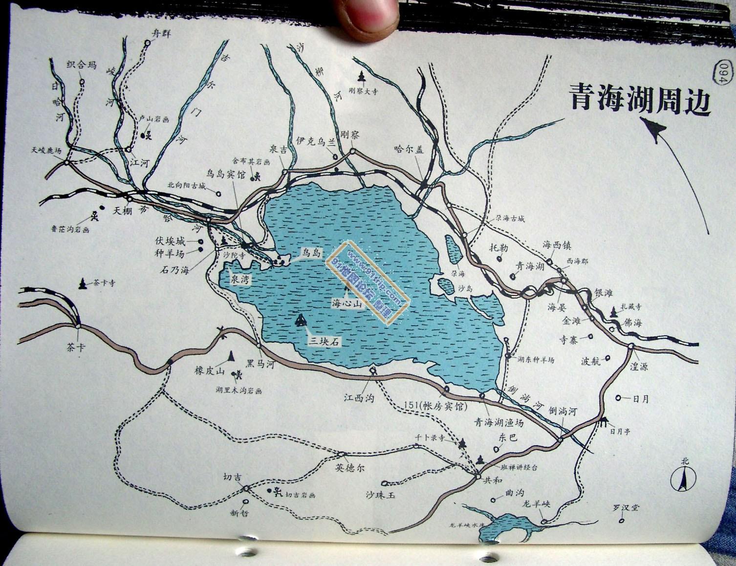 青海湖地图_青海旅游地图查询