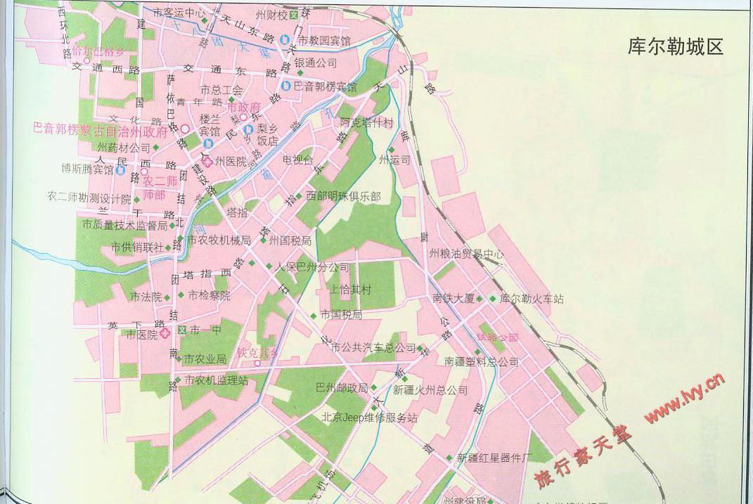 库尔勒市市区地图