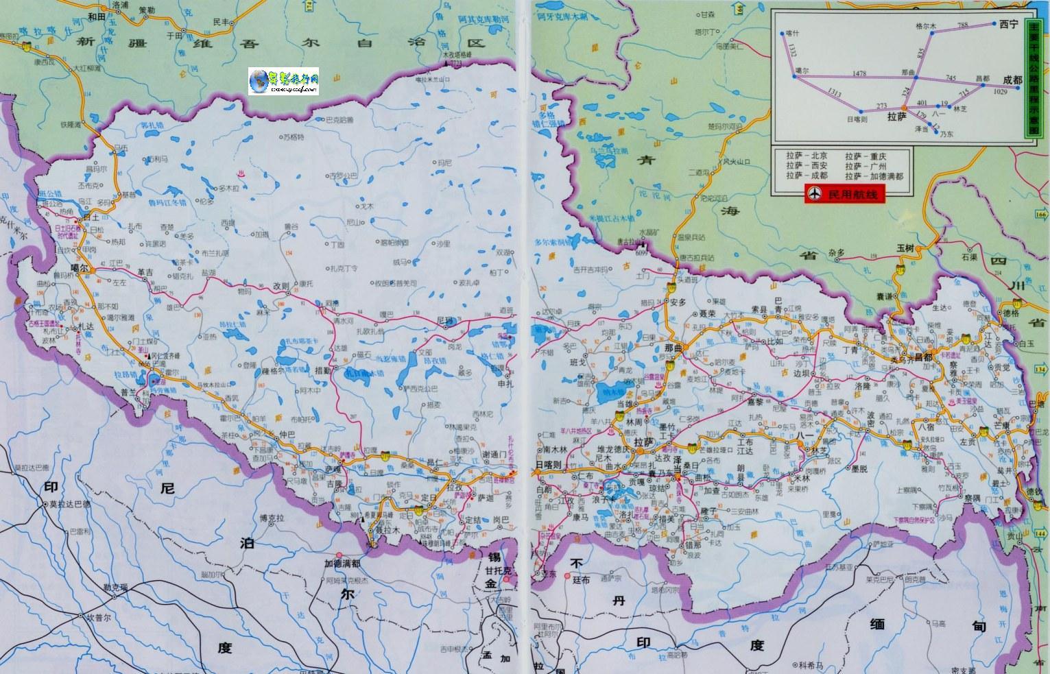 地图窝 中国 西藏
