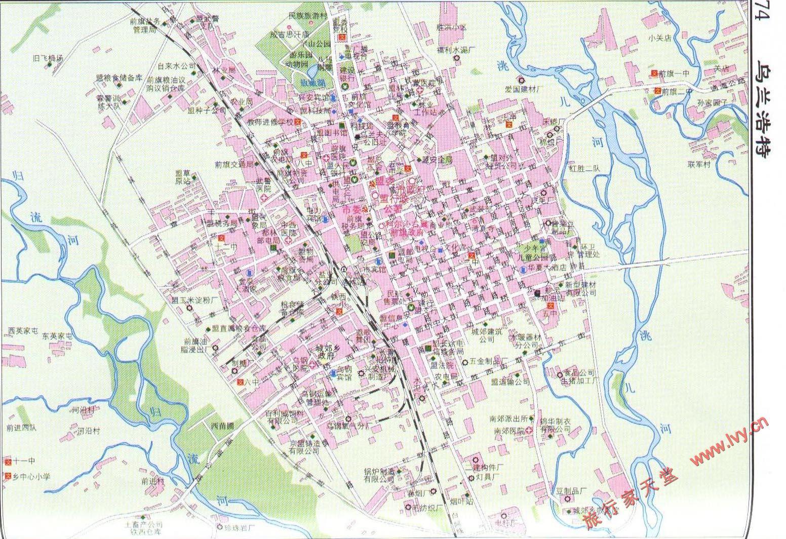 乌兰浩特市市区地图_呼和浩特地图查询