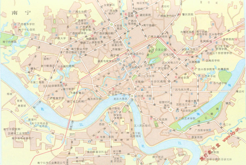 南宁市区地图[简易]