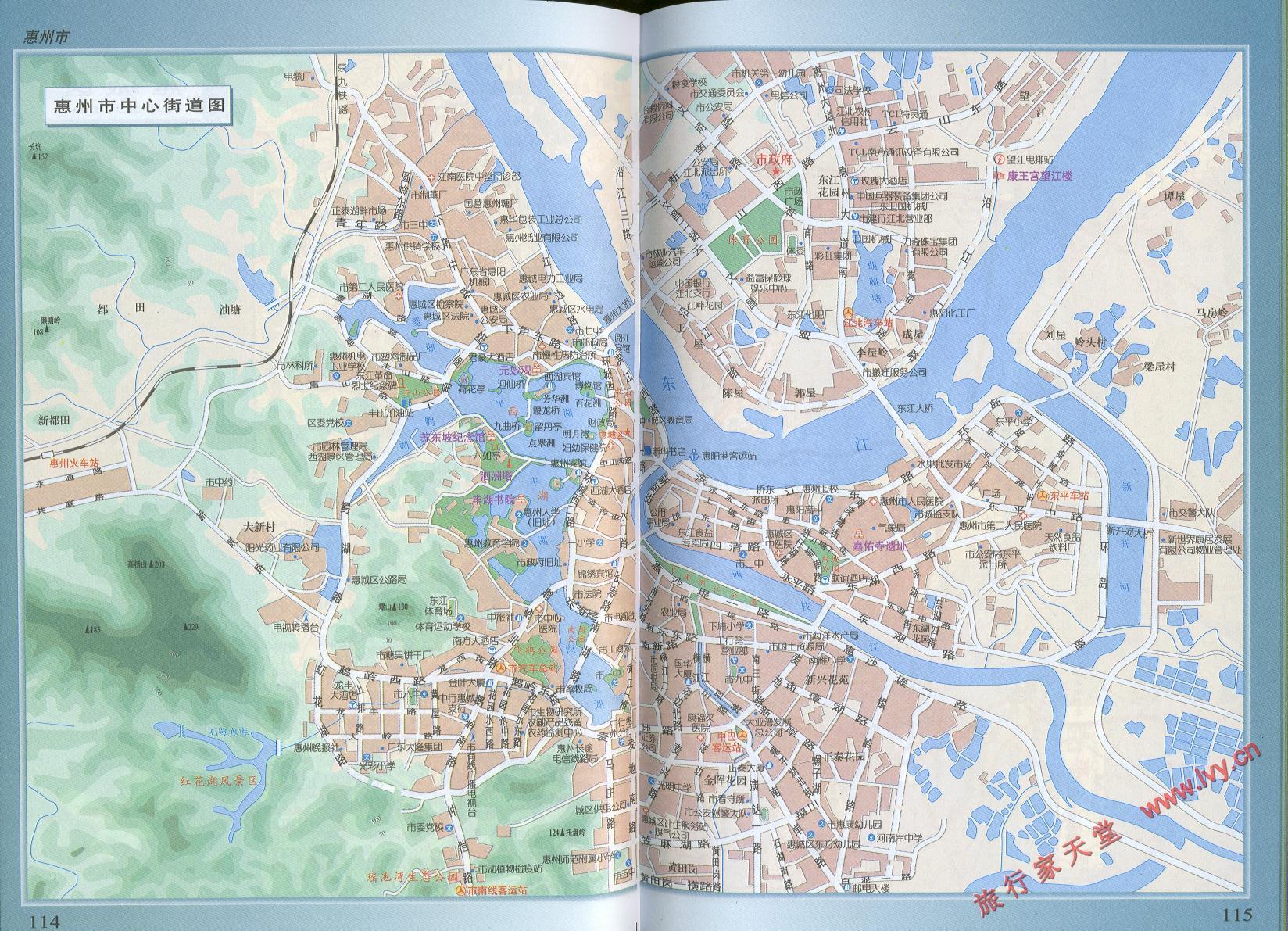 惠州市中心街道地图