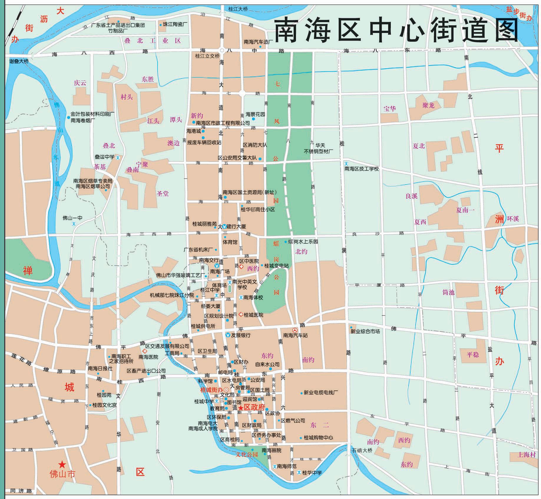 广东佛山市禅城区地图_广东佛山禅城区地图图片