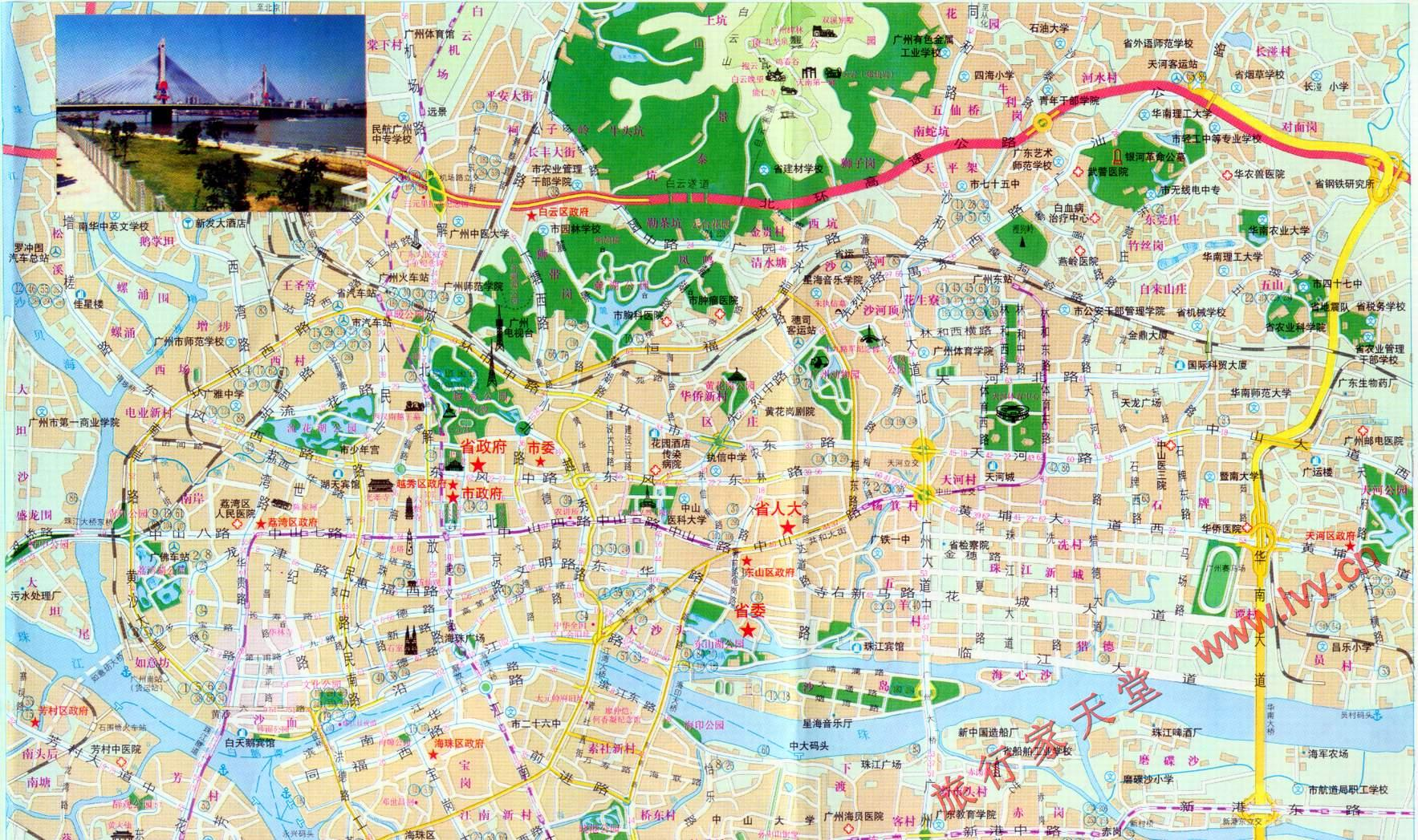 广州旅游地图_广州旅游景点地图
