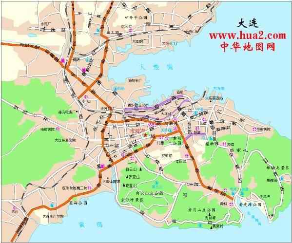 大连市区地图