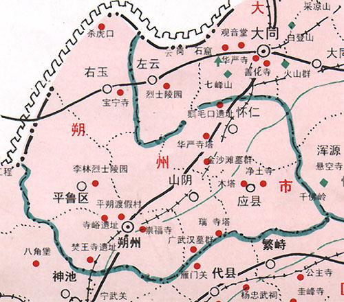 朔州旅游景点分布图_朔州地图查询