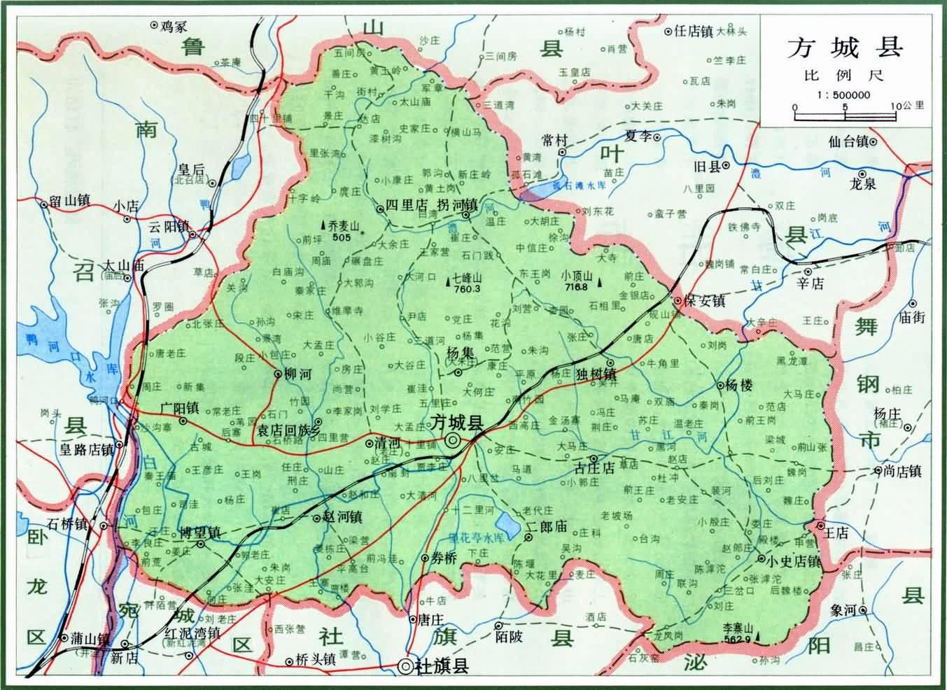 河南省方城县地图_南阳地图查询