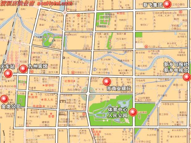 河南新乡市市区中心地图