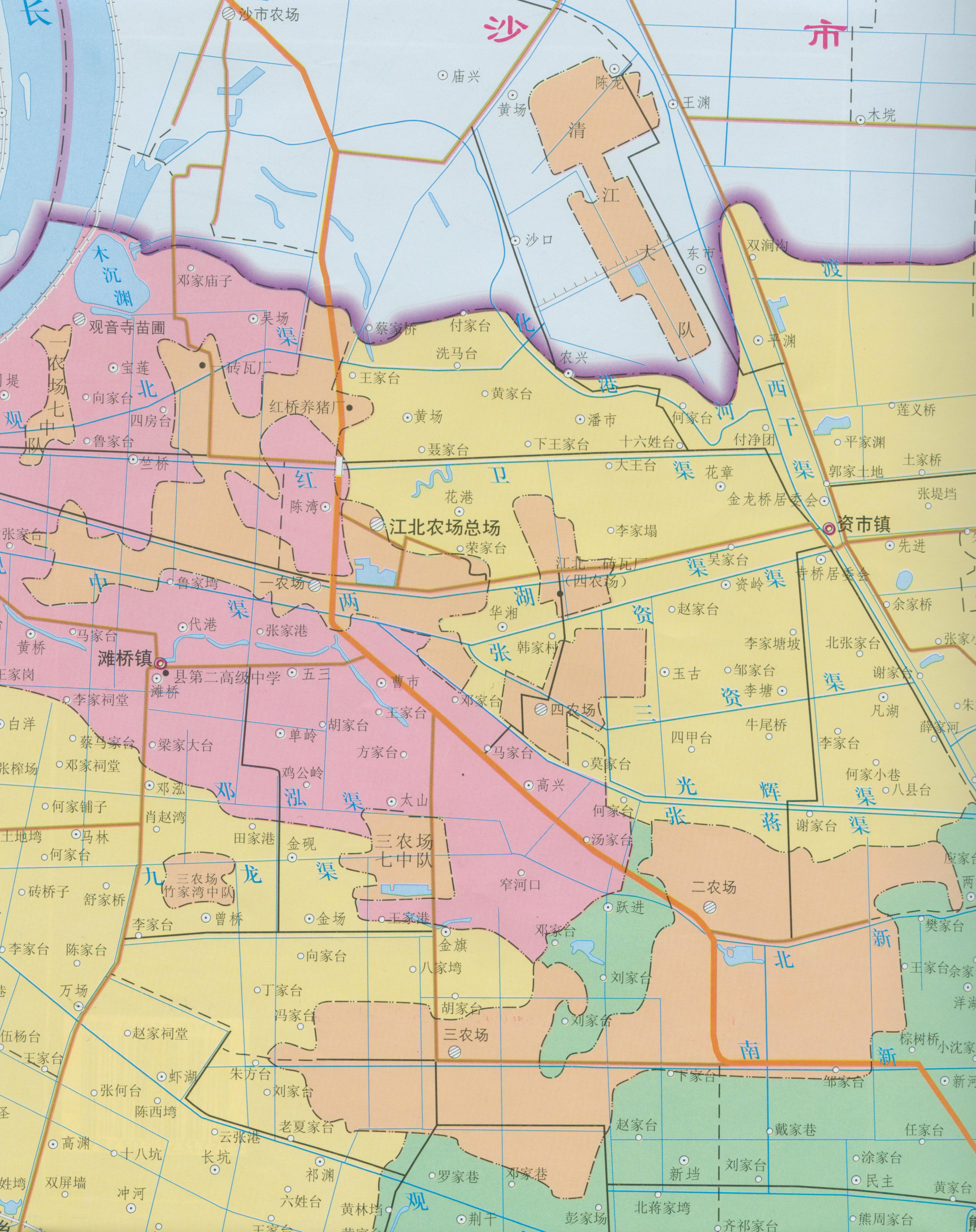 江北农场地图