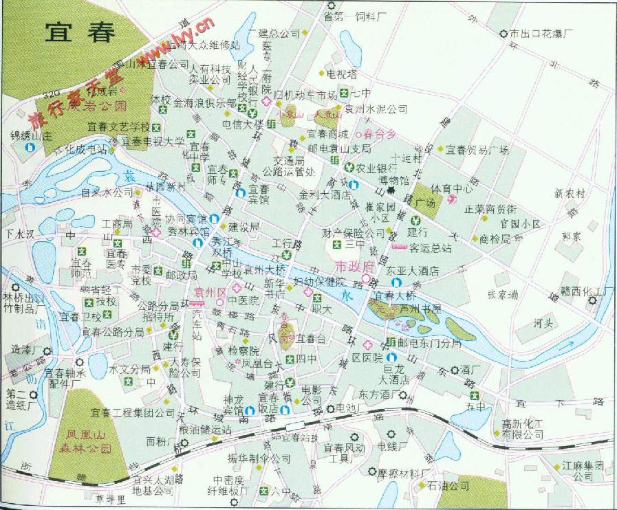 宜春市地图图片