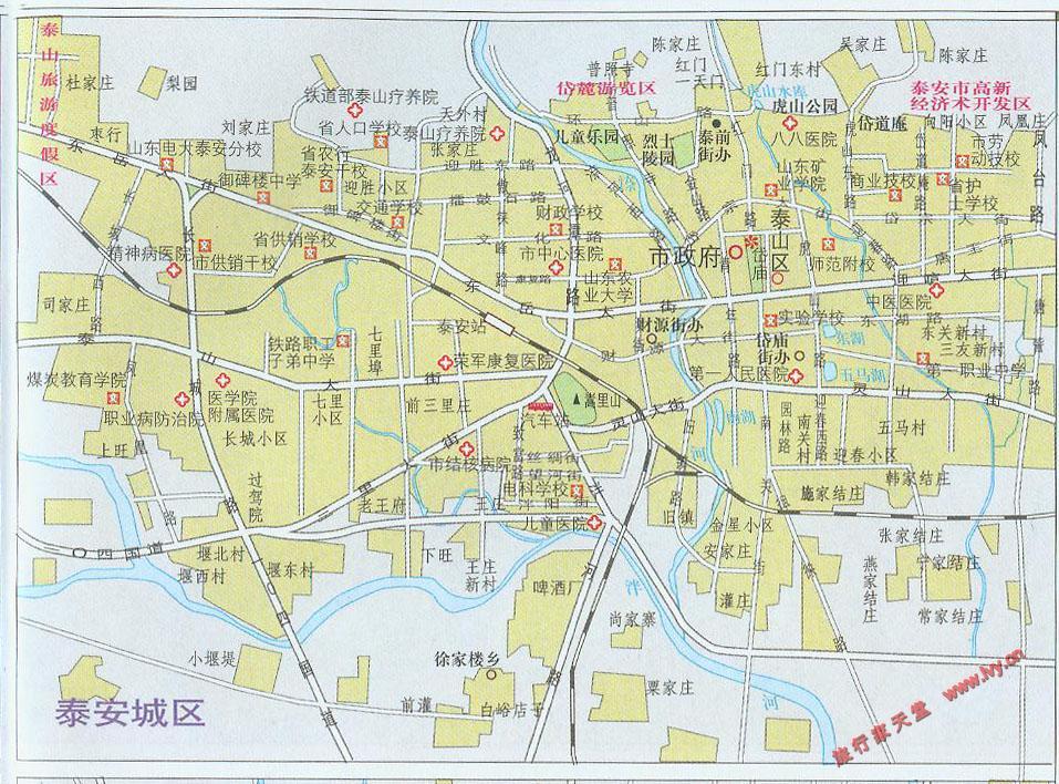 泰安市区街道地图