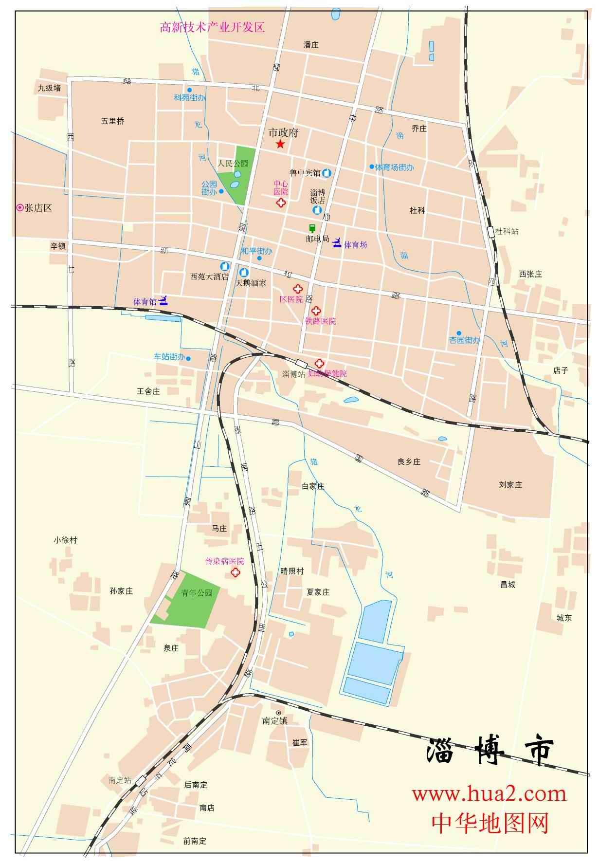 淄博市区地图