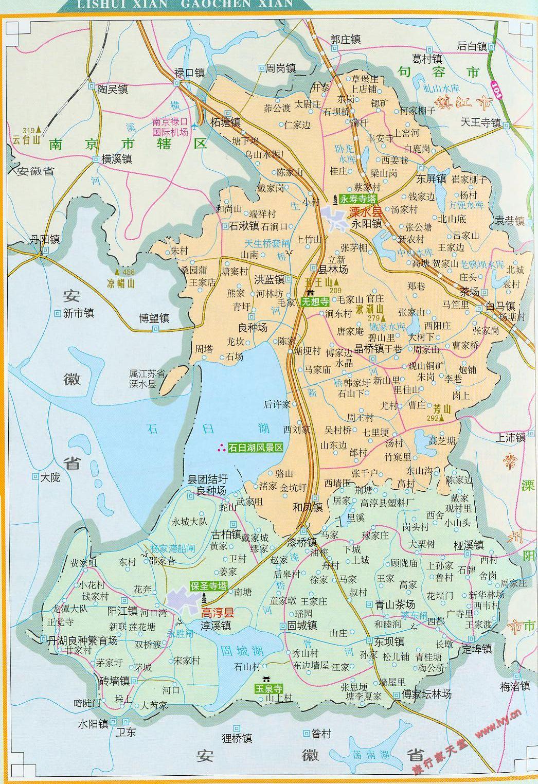溧水县地图_南京地图查询