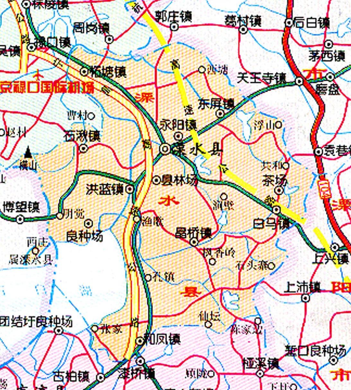 溧水县交通图_南京地图查询