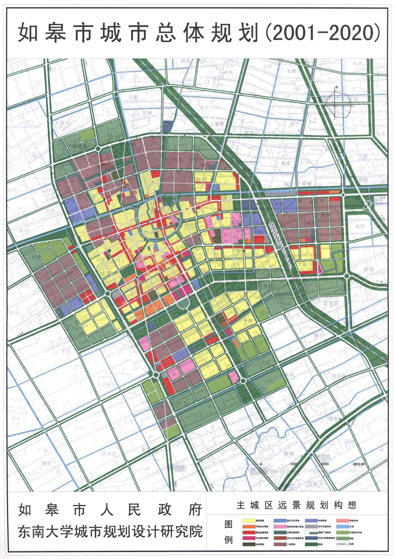 如皋市区远景规划图_南通地图查询