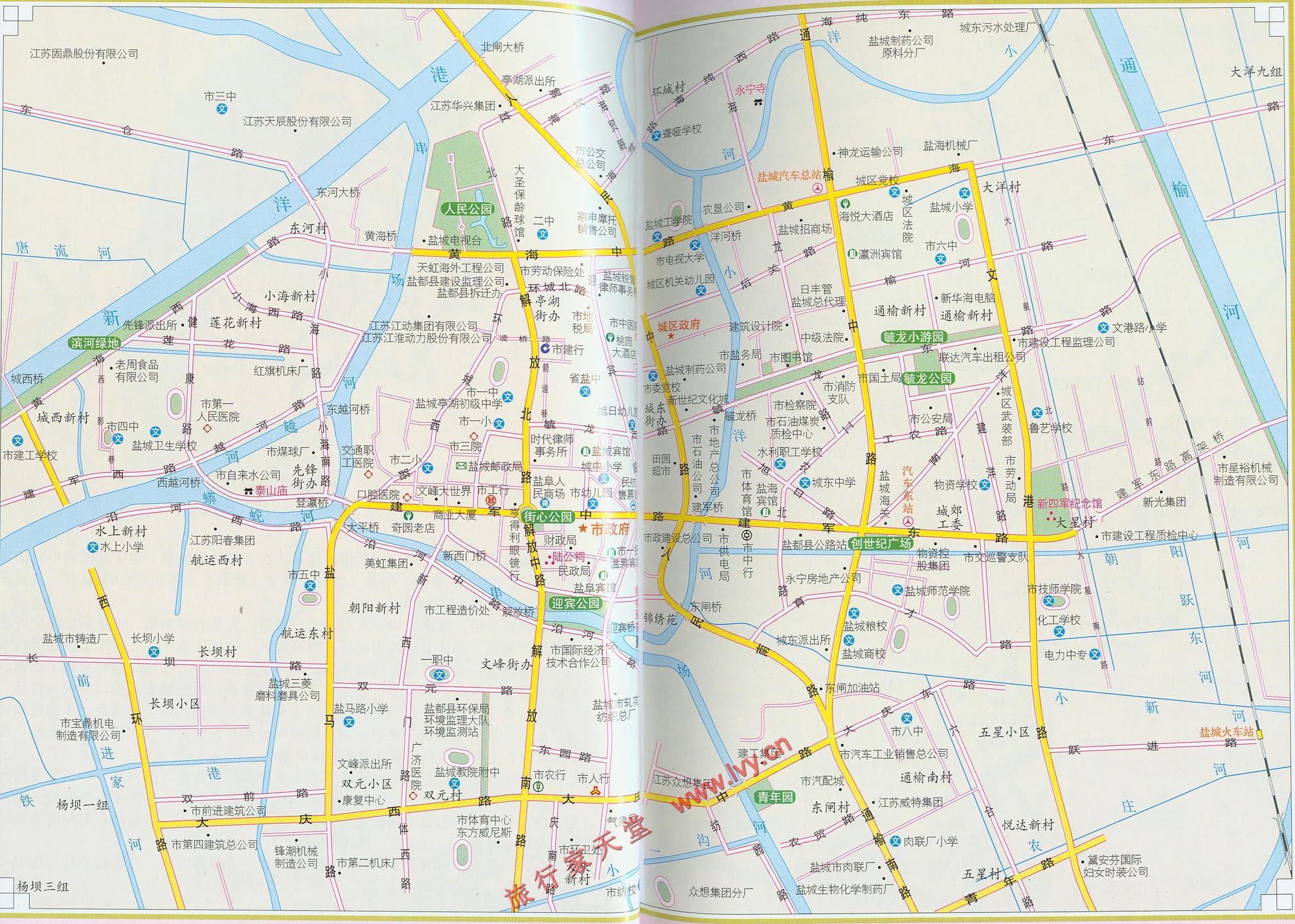 盐城旅游交通图_盐城地图查询