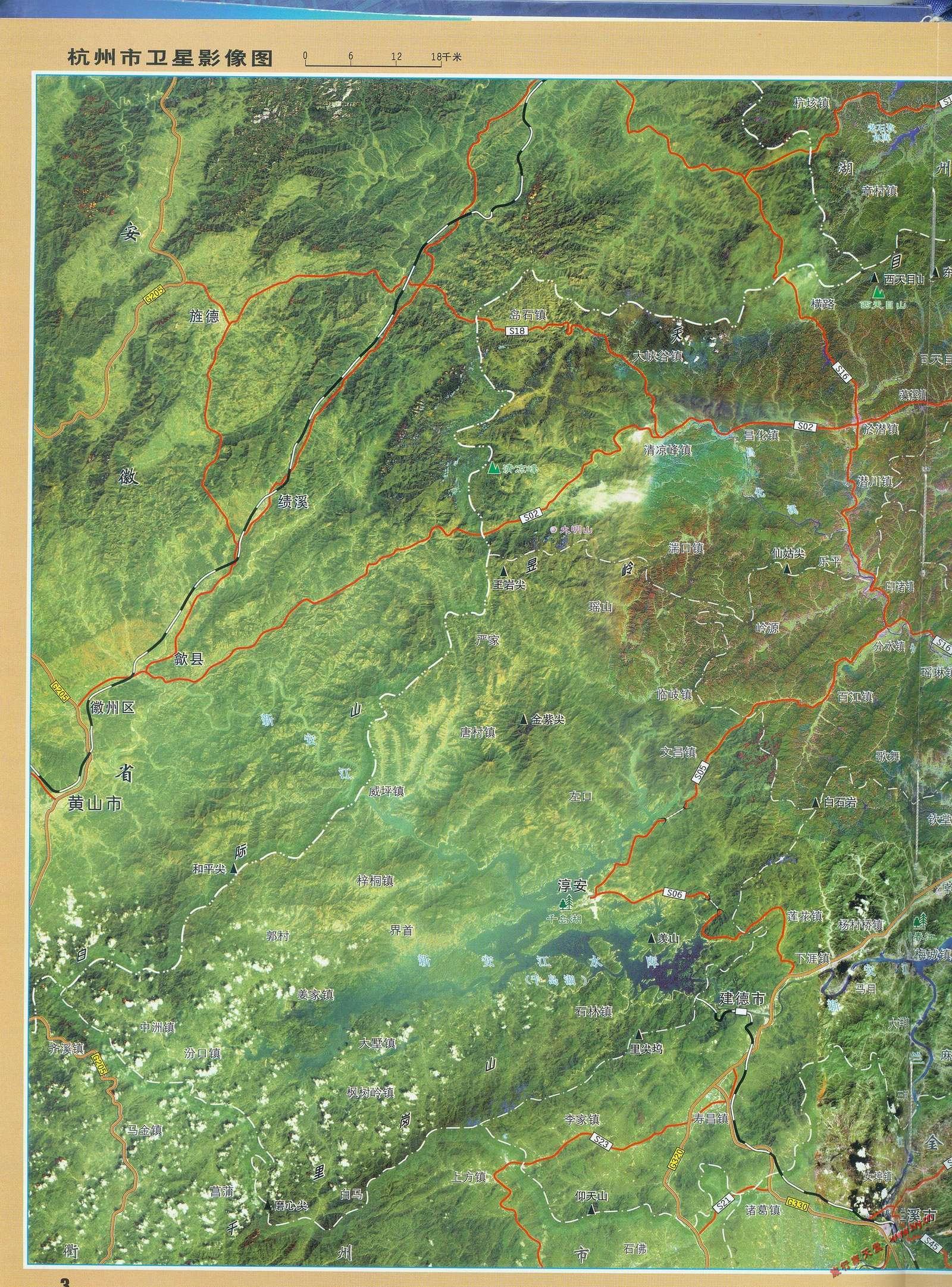 杭州千岛湖万向洲际酒店卫星图