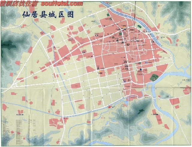 仙居县城区地图_台州地图查询