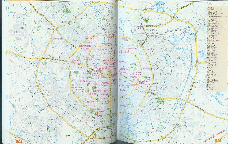 成都美食与住宿指南地图图片
