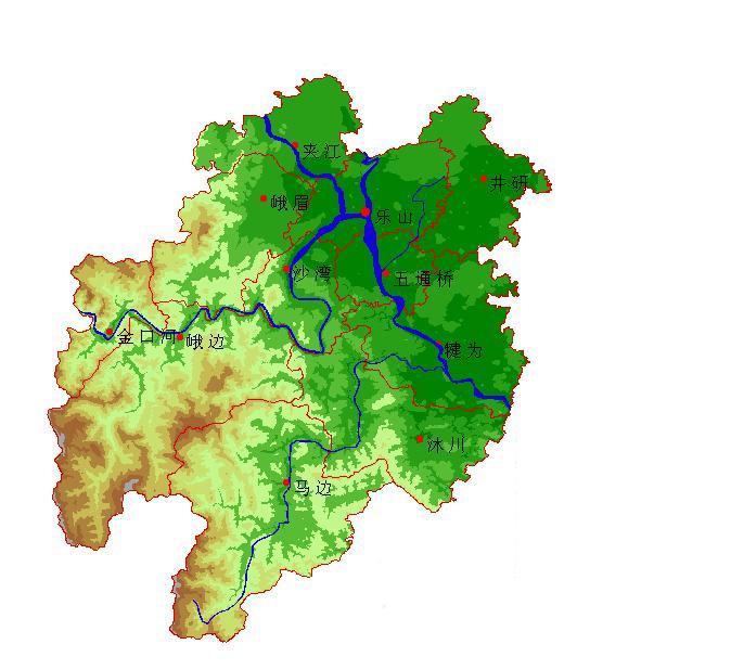 乐山地形图_乐山地图查询