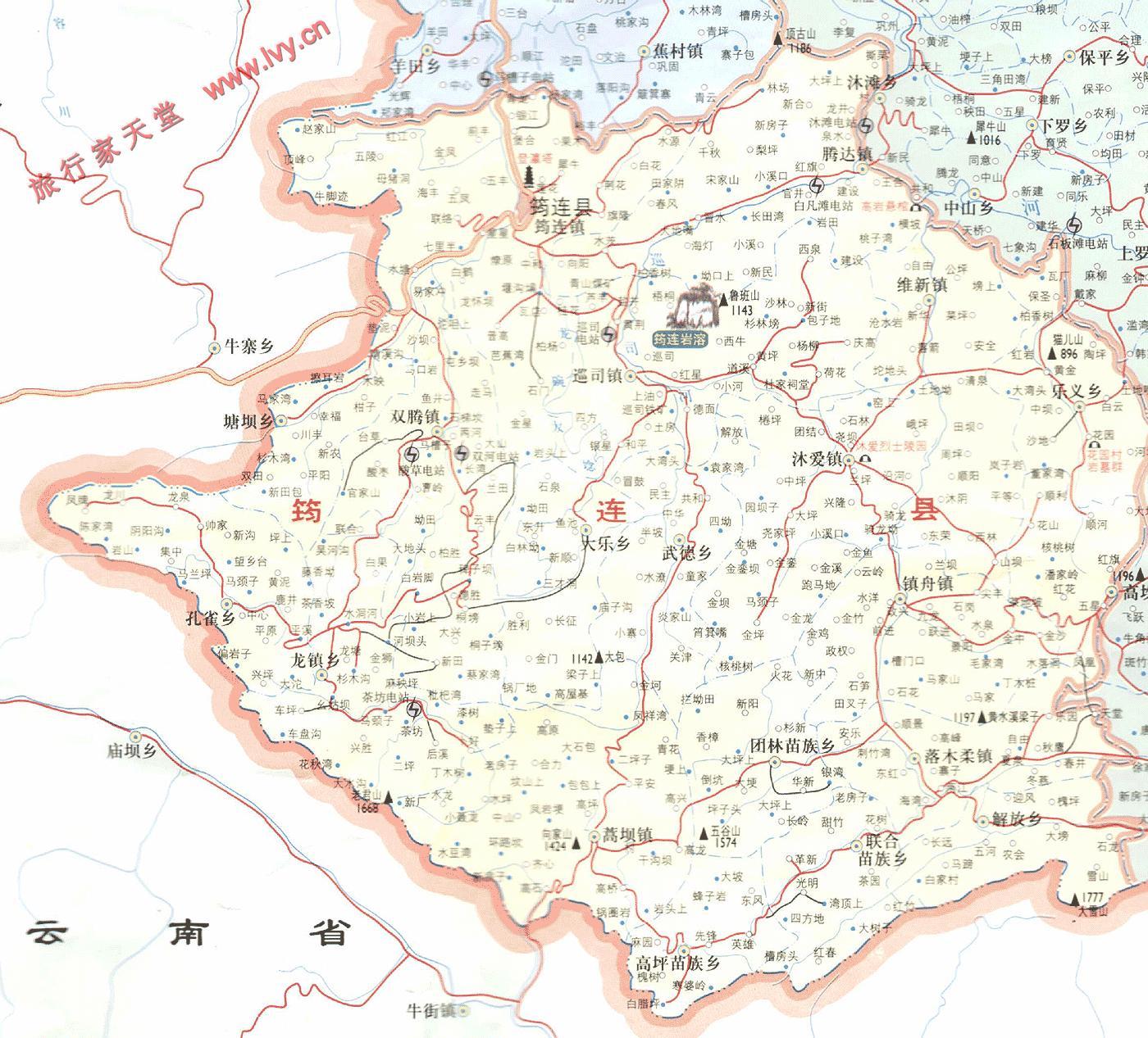 地图窝 中国 四川 宜宾  (长按地图可以放大,保存,分享)图片