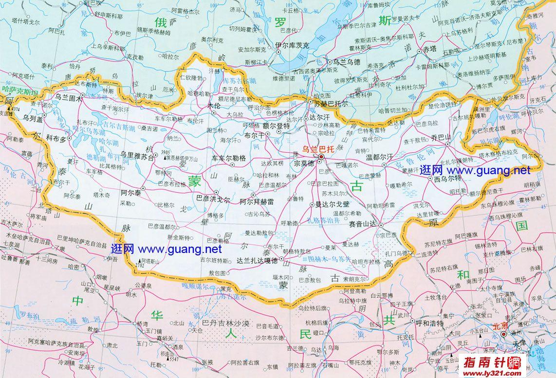 蒙古行政地图