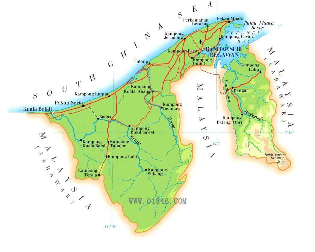 科威特地图英文版
