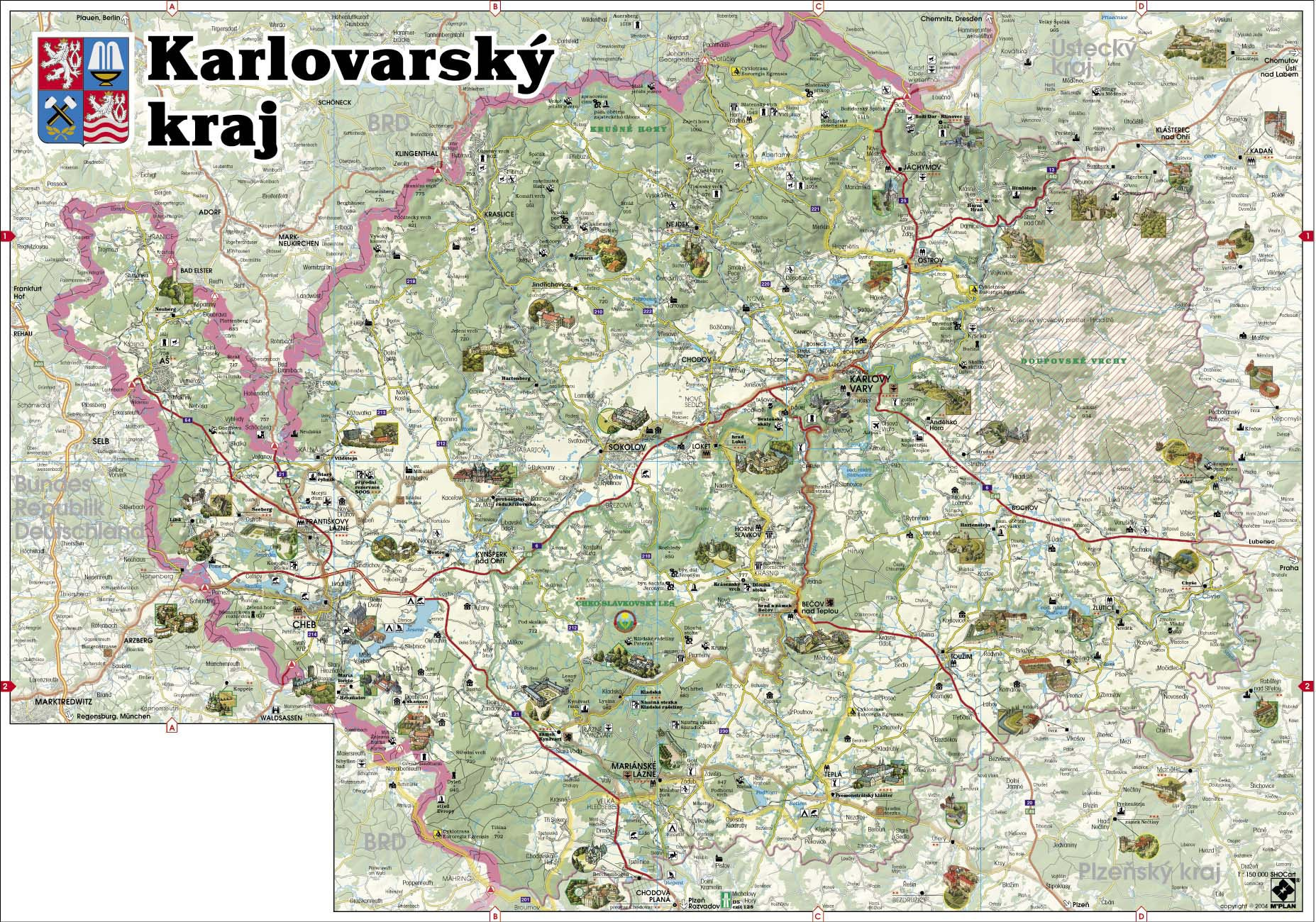 捷克英文版地图
