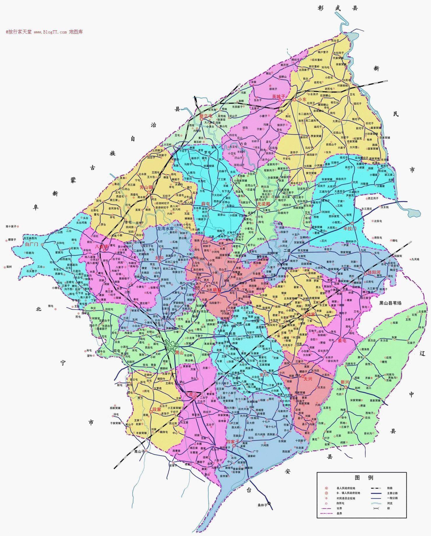 黑山共和国地图中文版
