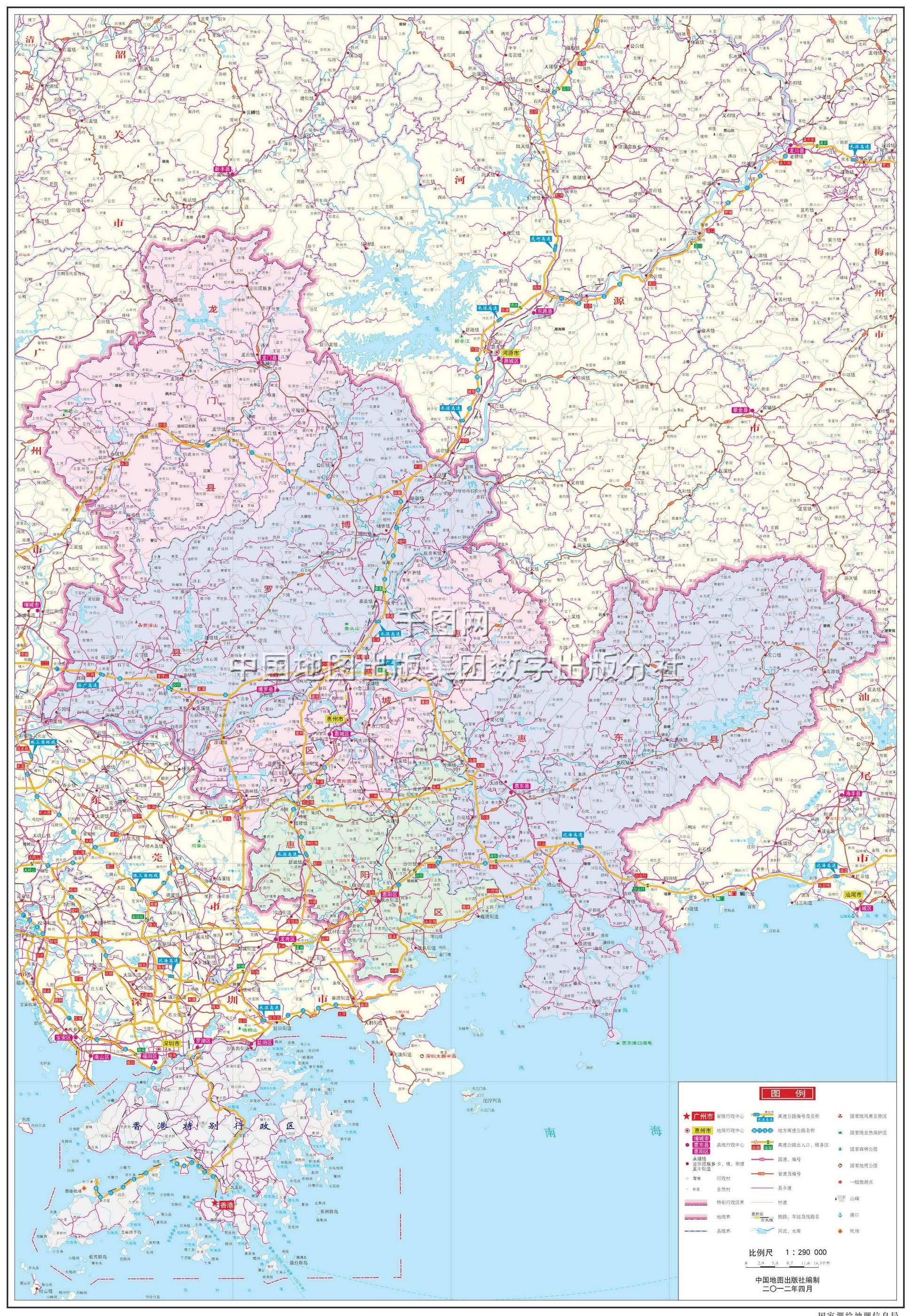 惠州市地图高清版