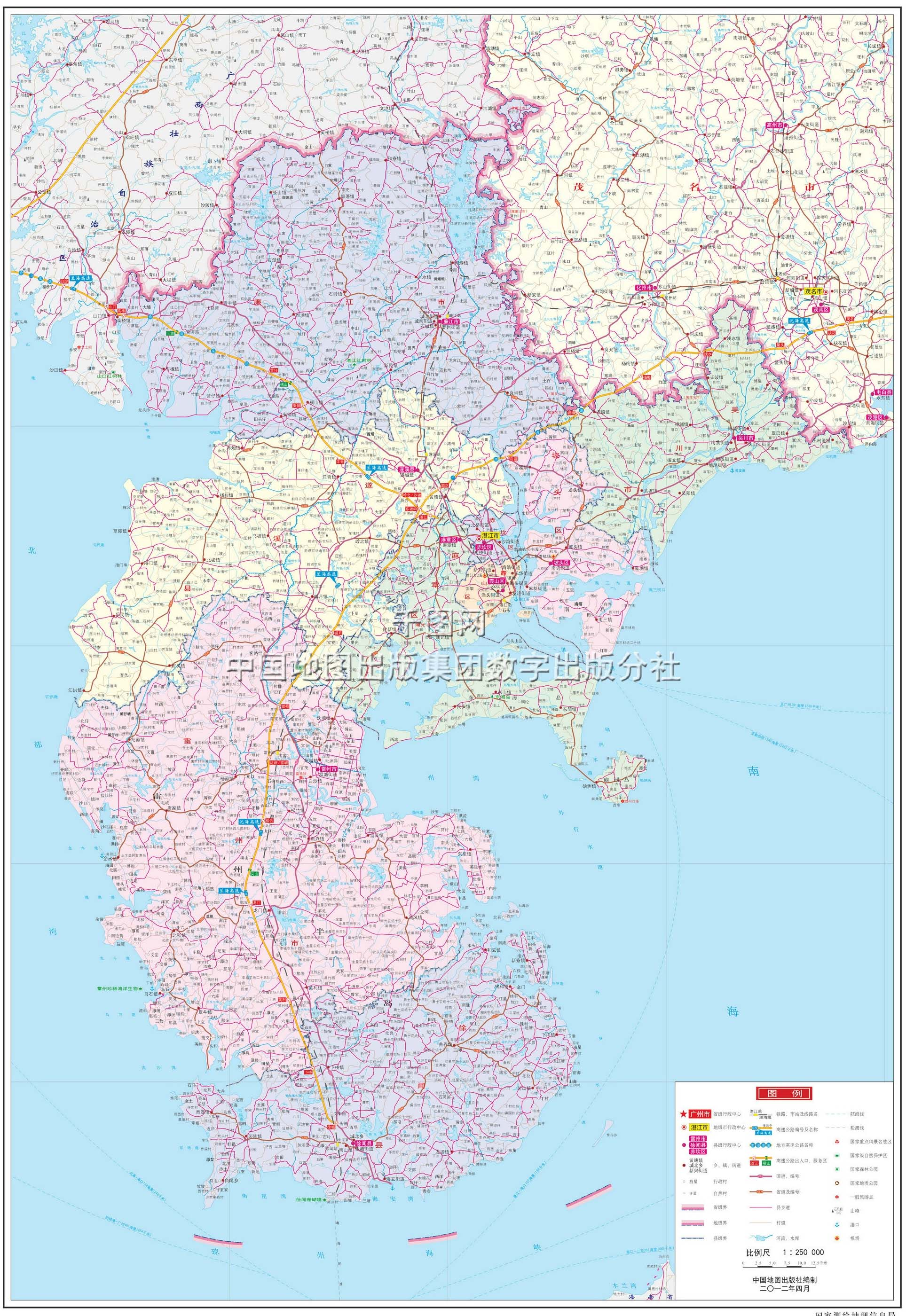 湛江市地图高清版