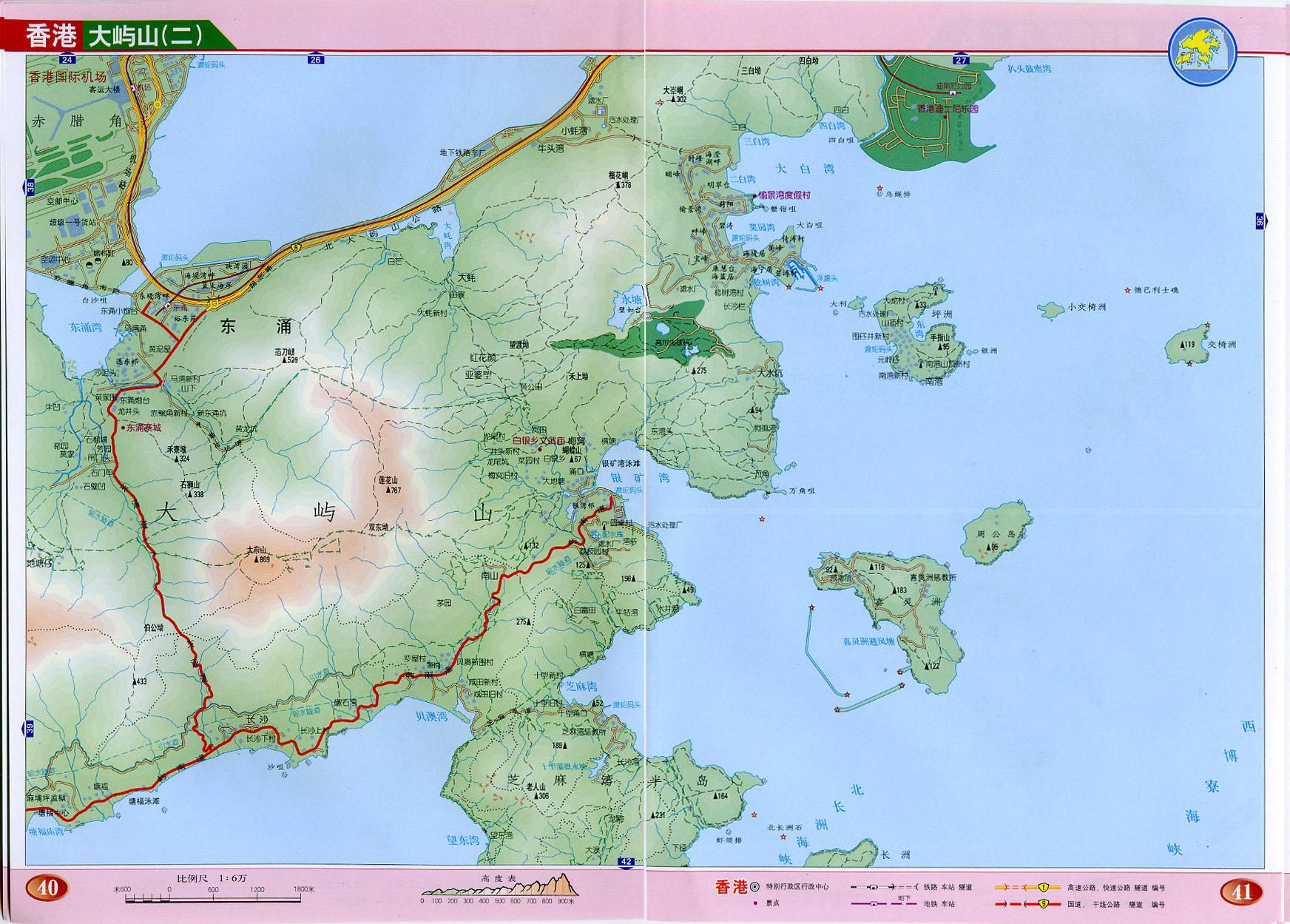 大屿山2地图高清版_香港地图查询