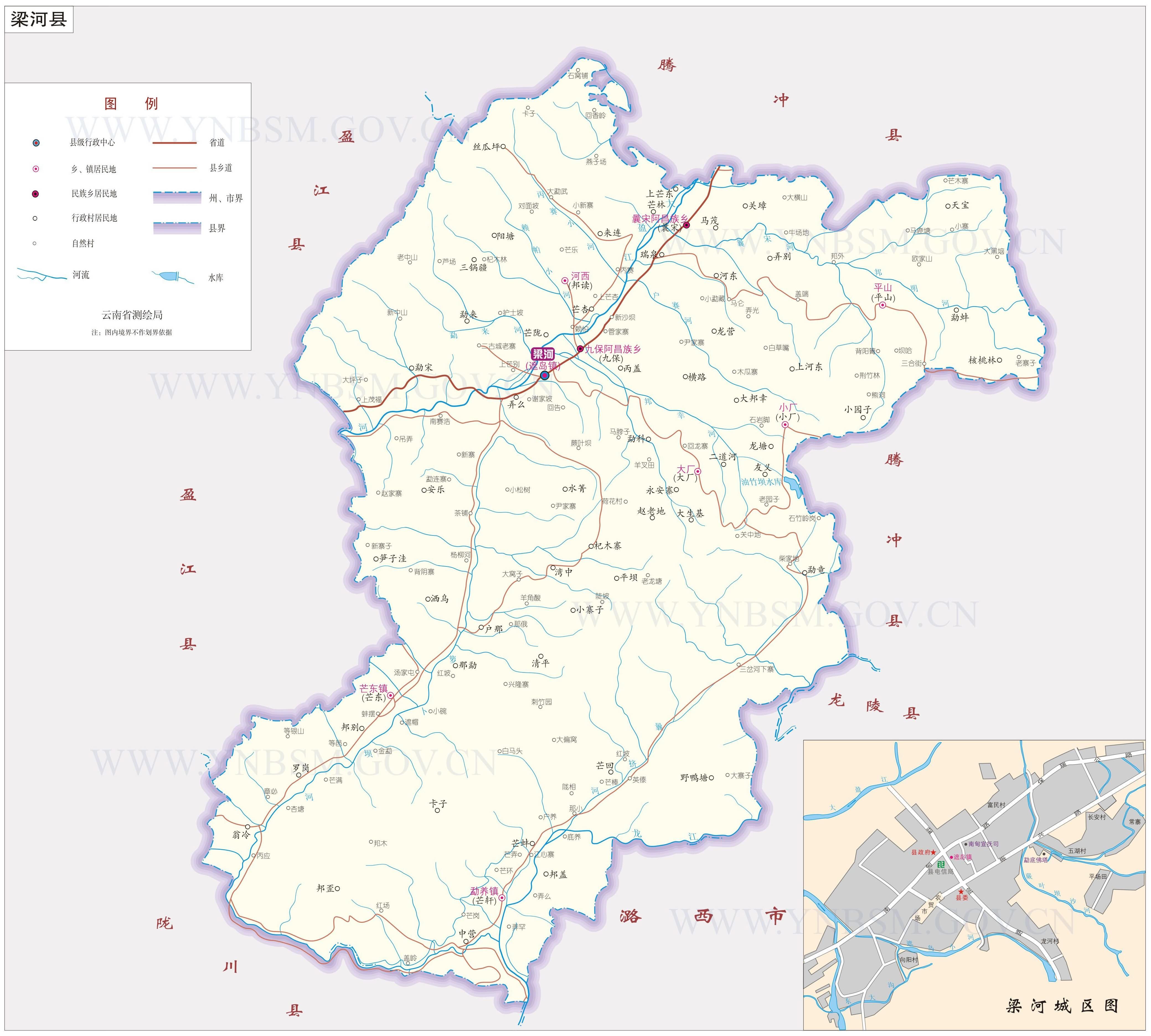 梁河县地图