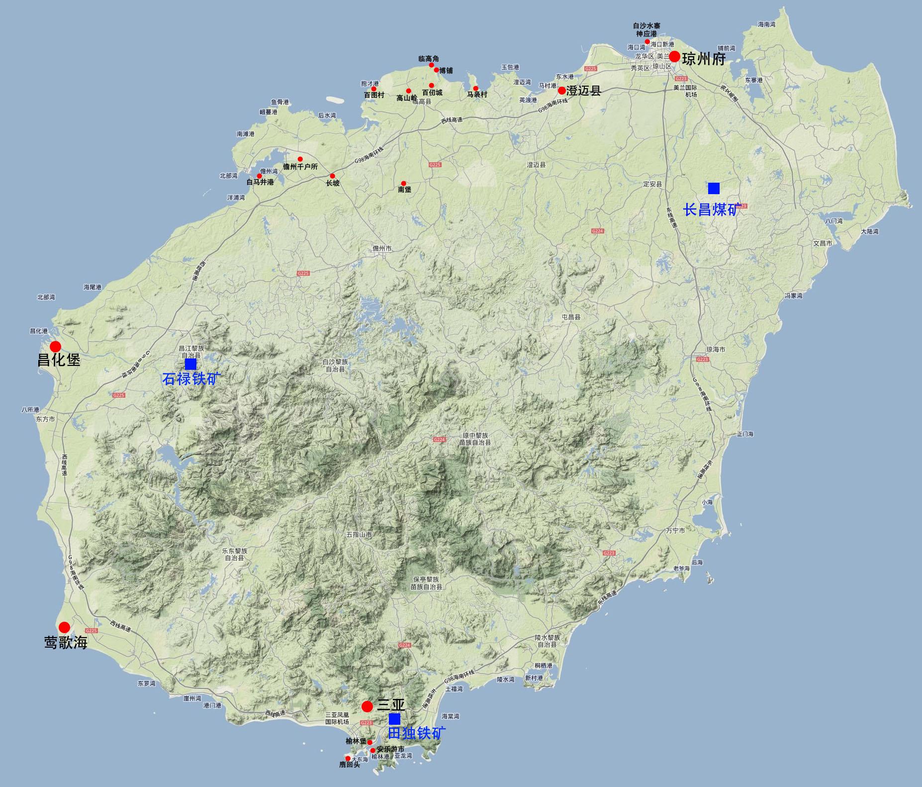 海南岛卫星图_海南地图查询
