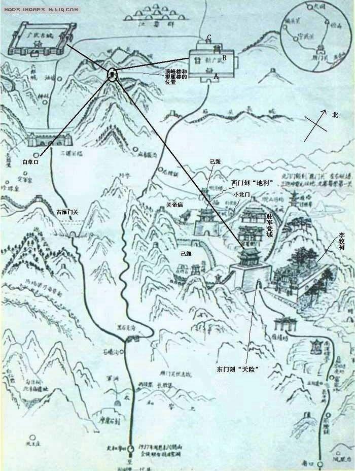 雁门关旅游地图