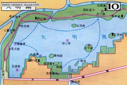 济南市风景地图