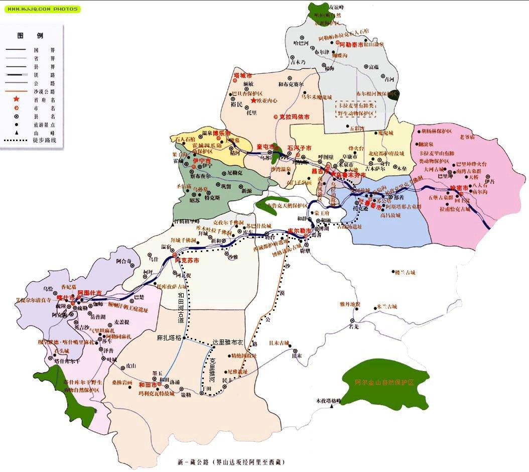 新疆旅游地图_新疆地图查询