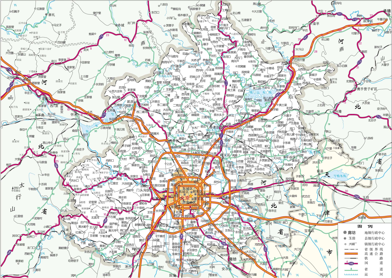 北京市旅游交通地图